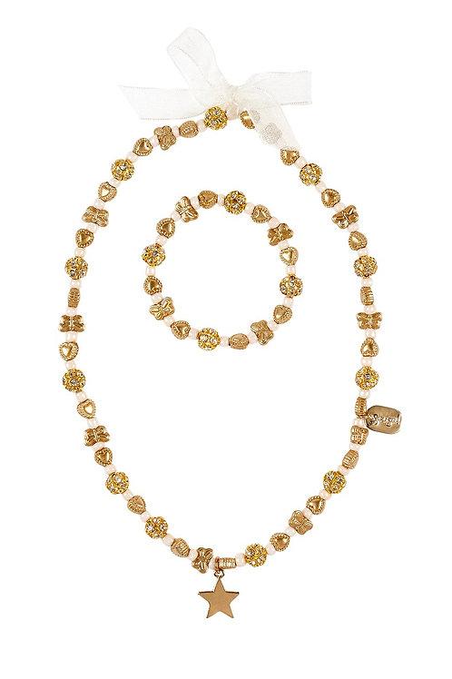Necklace & bracelet set Christelle gold