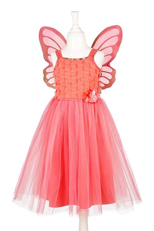 Souza - Jorianne jurk + vleugels, koraal, 3-4 jaar, 98-104 cm