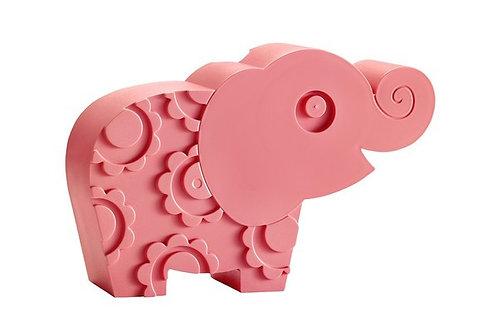 Blafre lunch box 2 compartimenten elephant pink