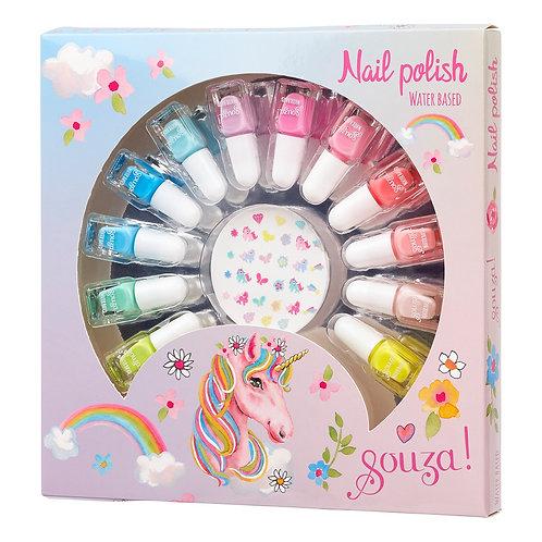 Nagellak cadeauset 12 kleuren + nagel stickers