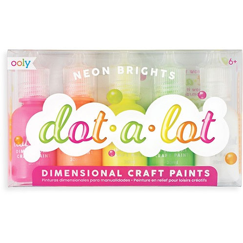 Ooly Dot-A-Lot Craft Paint - Neons