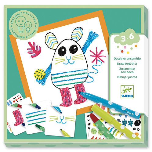 COLORIAGES POUR LES PETITS - Together, Funny animals