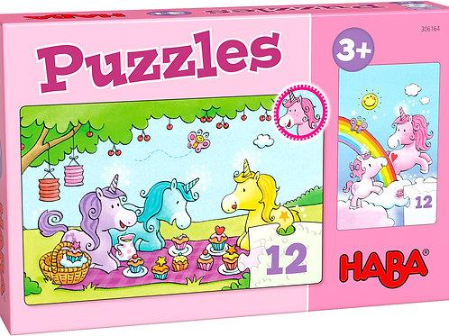 Haba - Puzzels - Eenhoorn Flonkerglans - Rosalie & Friends