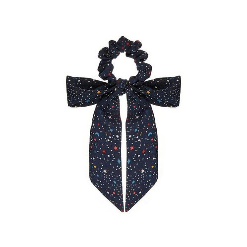 SPACE PRINT SCRUNCHIE WITH TAILS