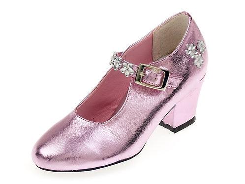 Souza - Schoentjes hoge hak Madeleine, roze metallic, mt 28