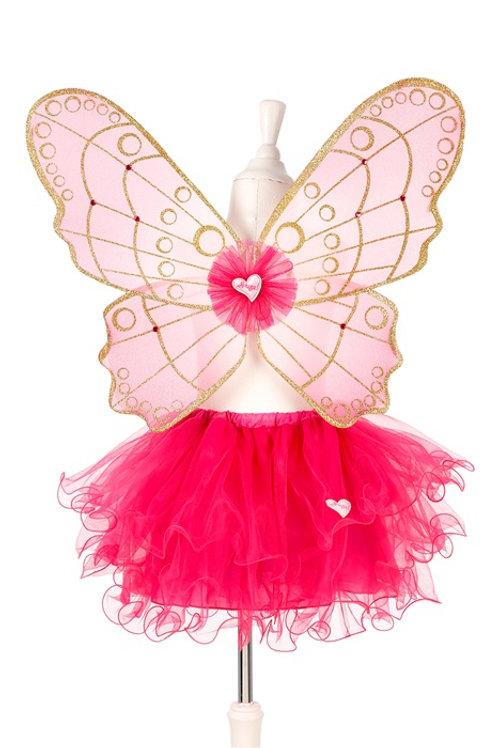 Souza - Babette rok + vleugels, fuchsia, verstelbaar