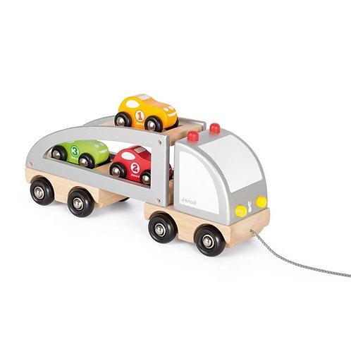 Janod Vrachtwagen met 3 auto''s