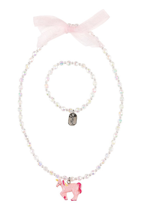 Necklace + bracelet Angel, unicorn