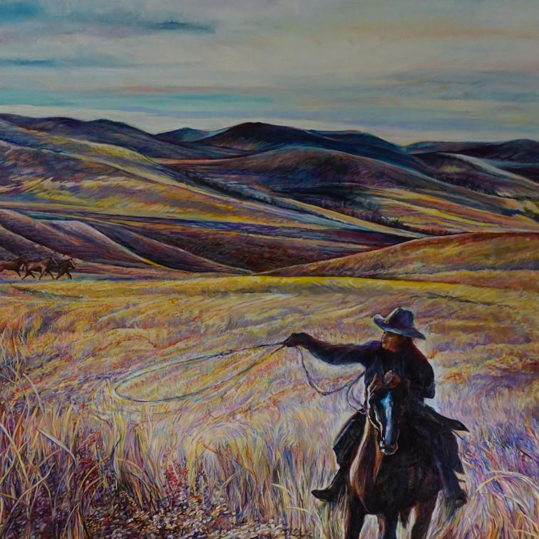 "Rider 24"" x 32"" oil on canvas"