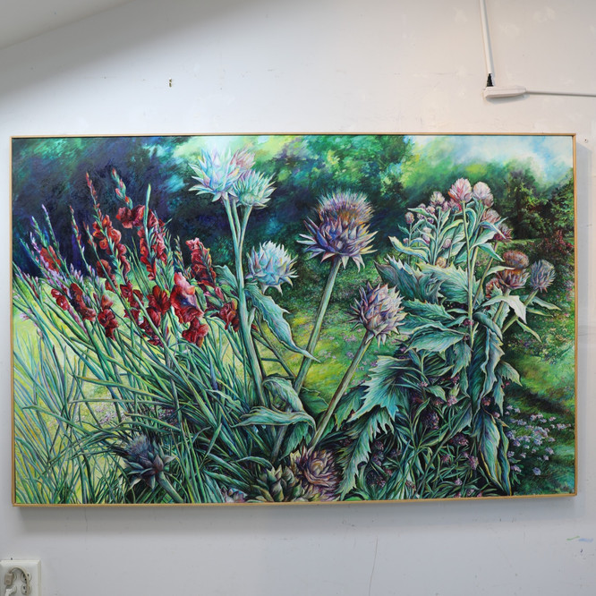 Gladiolus & Thistles