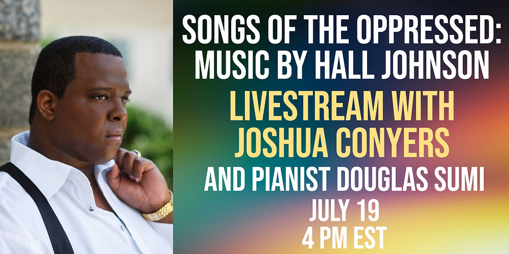 Songs of the Oppressed: Music by Hall Johnson