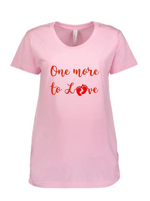 Light Pink Scoop Neck Maternity Graphic Tee