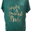 Thumbnail: Heather Green Scrunched Sides Maternity Tee - Fearfully & Wonderfully Made