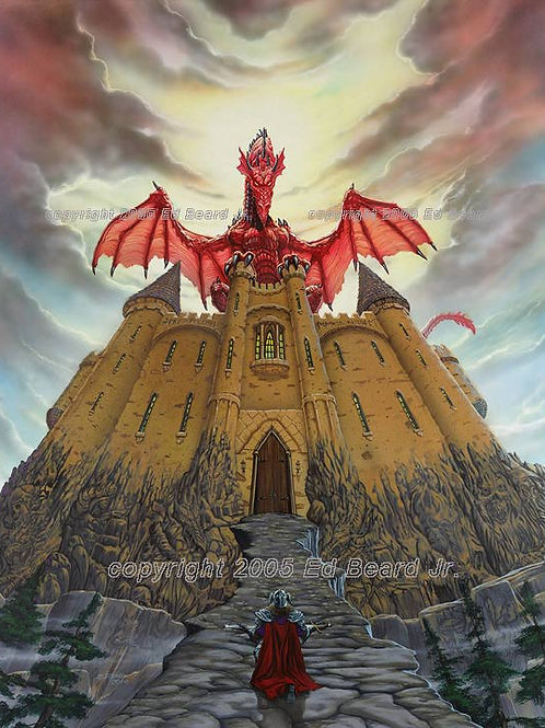 Dragon Lord Magic Castle Giclee Gallery Wrap