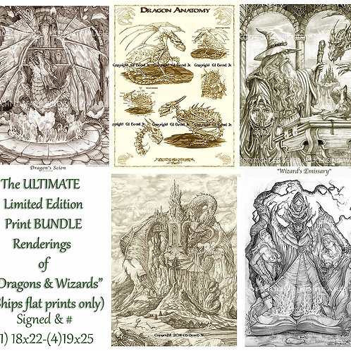 Dragon & Wizard-BUNDLE- Limited & Signed