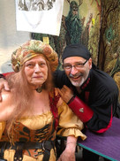Ed with longtime Manager and family Maggie at the Michigan Renaissance Festival