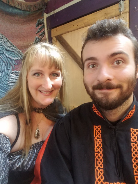 Ed's wife Kelly and son Dustin at the Michigan Renaissance Festival