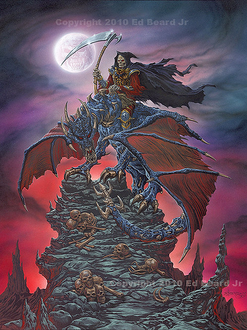 Dragon Reaper Giclee Gallery Wrap