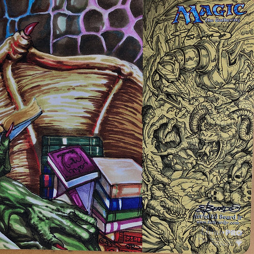 Nicol Bolas Playmat w/Fully Shaded Deluxe Scene