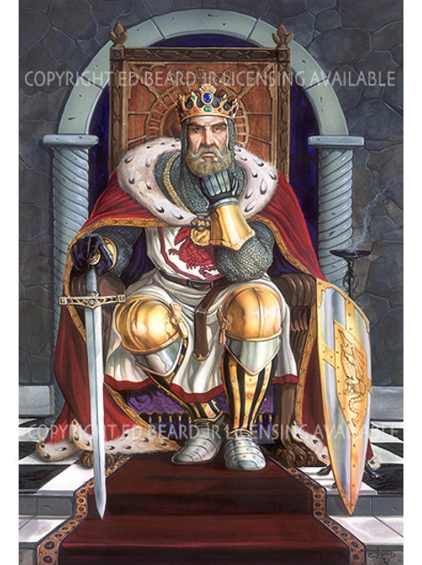 King Arthur Giclee Standard Stretch