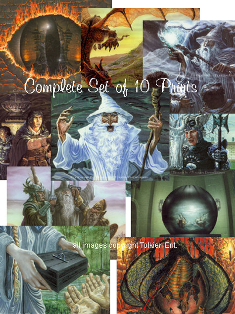 Set of 10 J.R.R. Tolkien prints