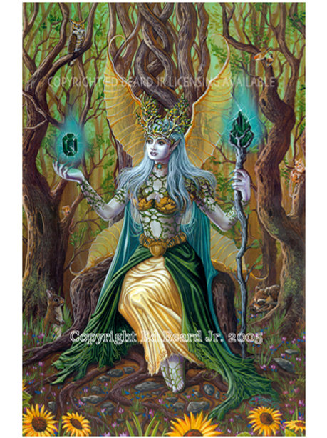 Earth Fairy Elemental Giclee Gallery Wrap