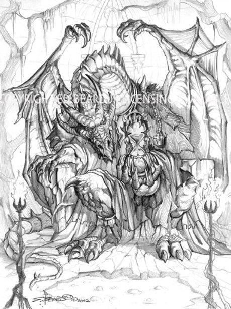 Fate Dragon Black and White