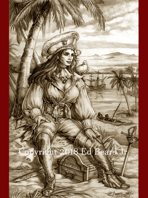 Scarlet of the Southern Seas Sepia Tone Artist Proof
