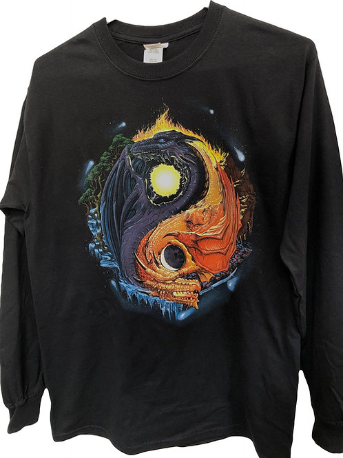 Yin Yang Dragon Long Sleeve Shirt