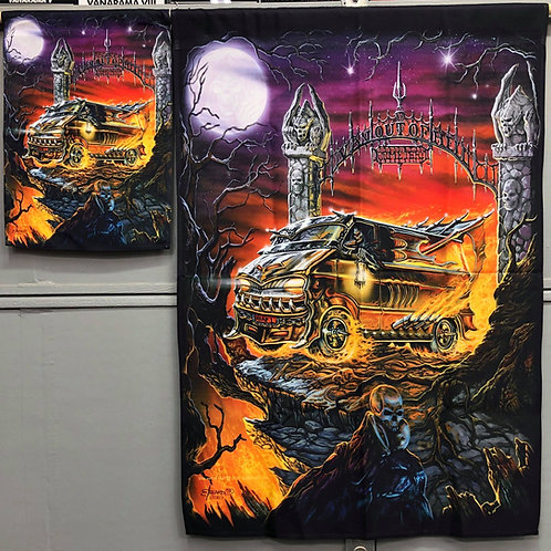 Van Out of Hell HOUSE FLAG 29x41