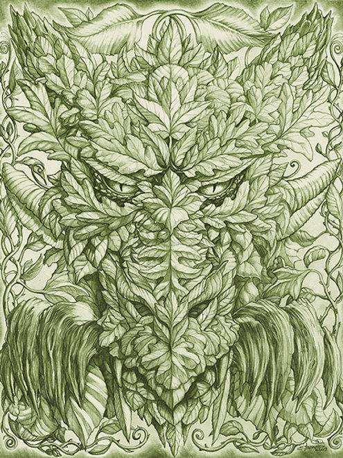 Greenman Dragon Monochrome