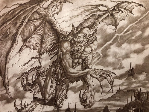 MTG Gargoyle Sketch