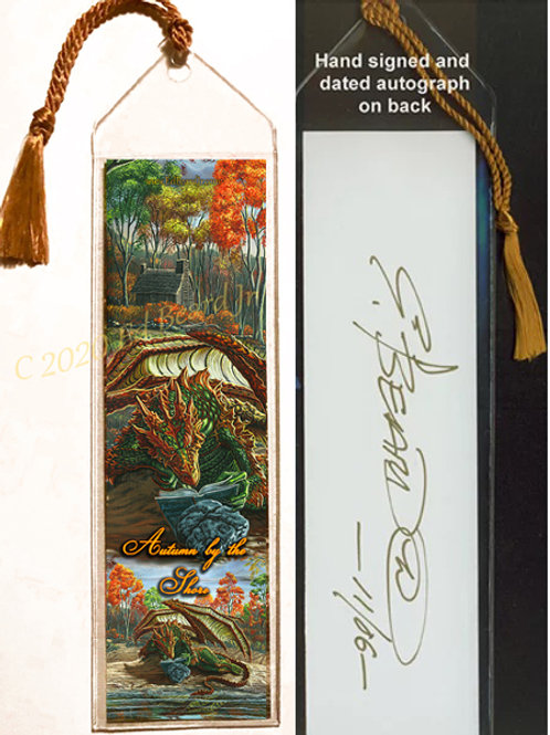 Autumn by The Shore Signed Bookmark