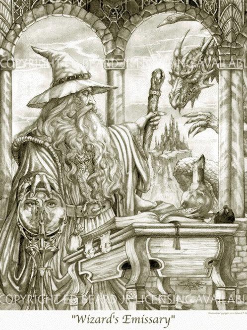 Wizard's Emissary Black and White