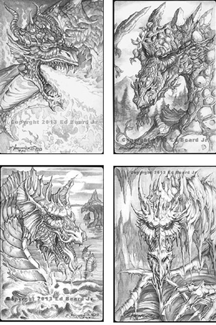 "Collection of Four Elemental Dragon ""Gathering"""