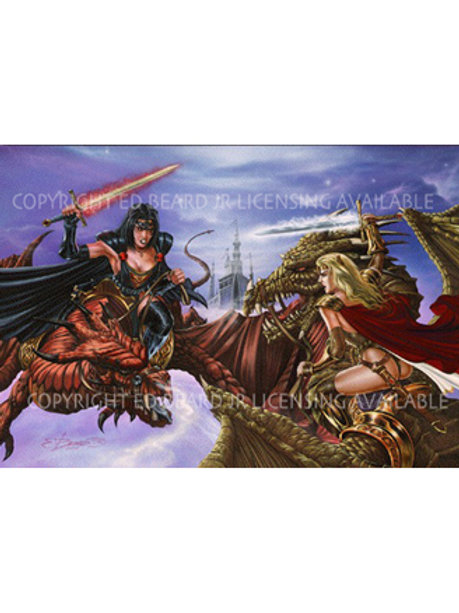 Lady Pendragon vs. The Priestess Artist Proof