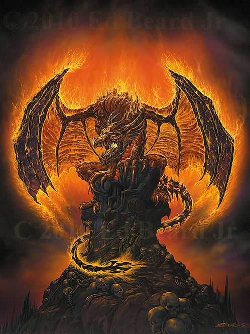 Harbinger of Fire Giclee Standard Stretch