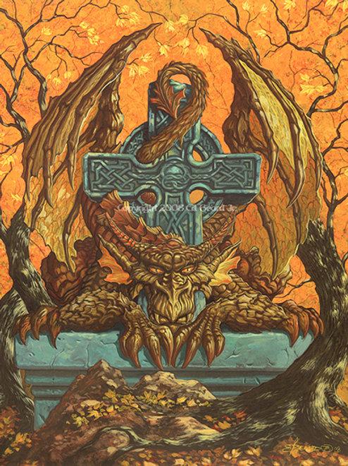 Celtic Autumn Dragon Artist Proof