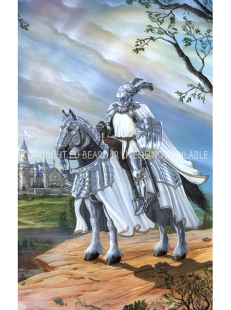 The White Knight Giclee Gallery Wrap