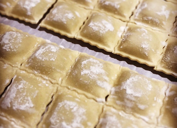 Raviolis St Jacques, beurre blanc citron vert gingembre