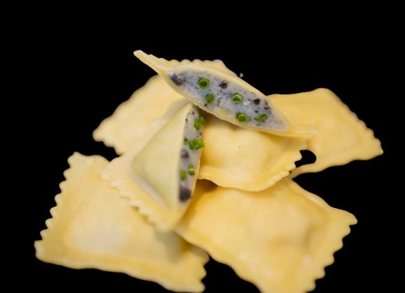 Raviolis Truffe et sa crème de truffes
