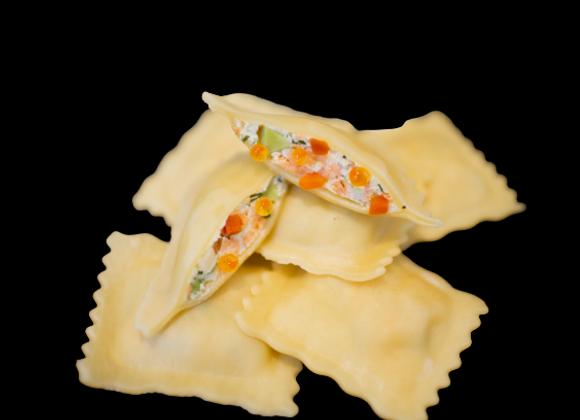 Raviolis saumon et sa sauce crème aneth citronnelle