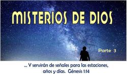 MISTERIOS DE DIOS 3