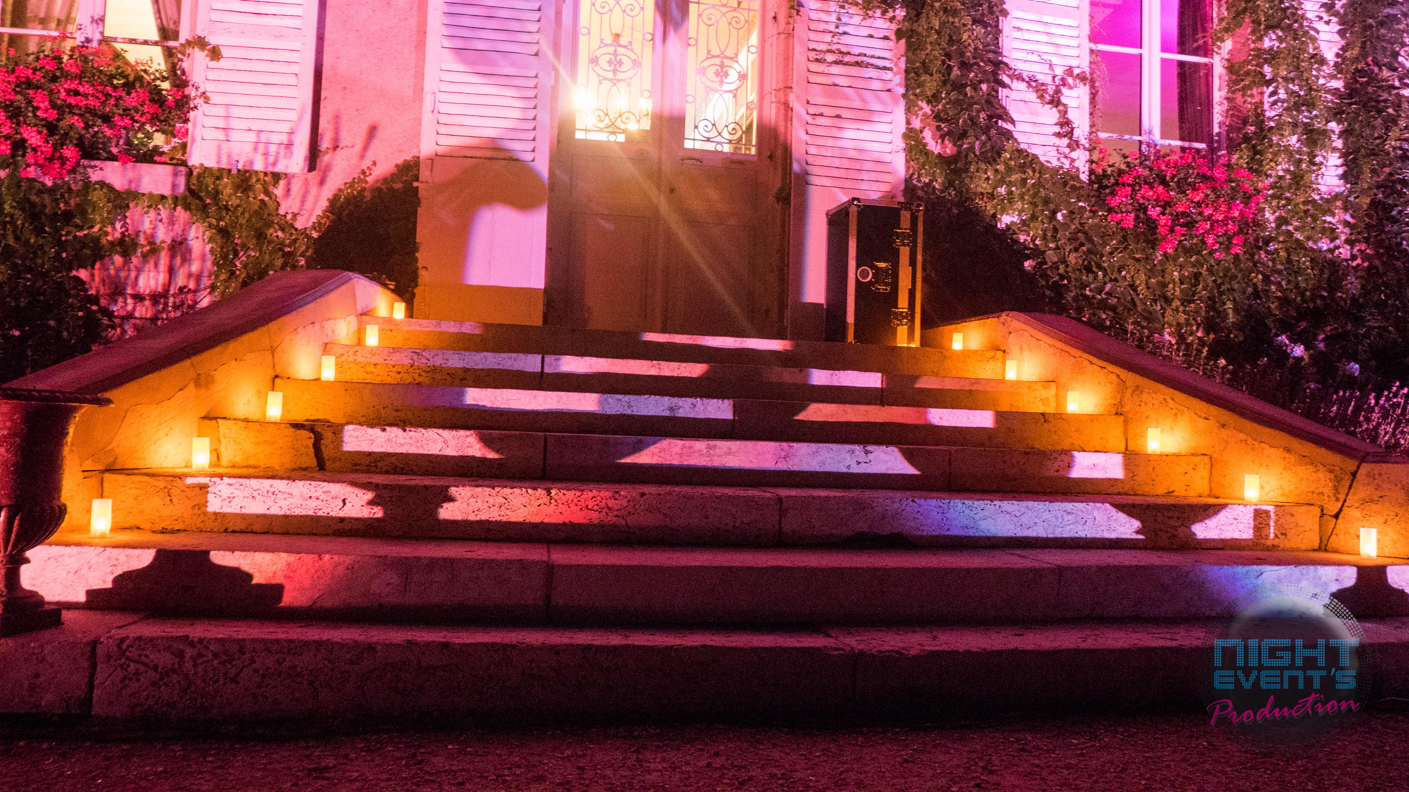 Chemin de bougies LED