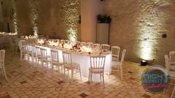 Éclairage table d'honneur