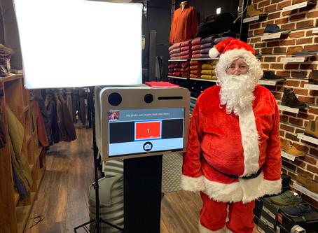 PhotoBooth avec le Père Noël au Magasin Men's Gisors.