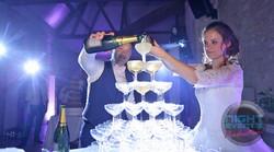 Éclairage cascade de champagne