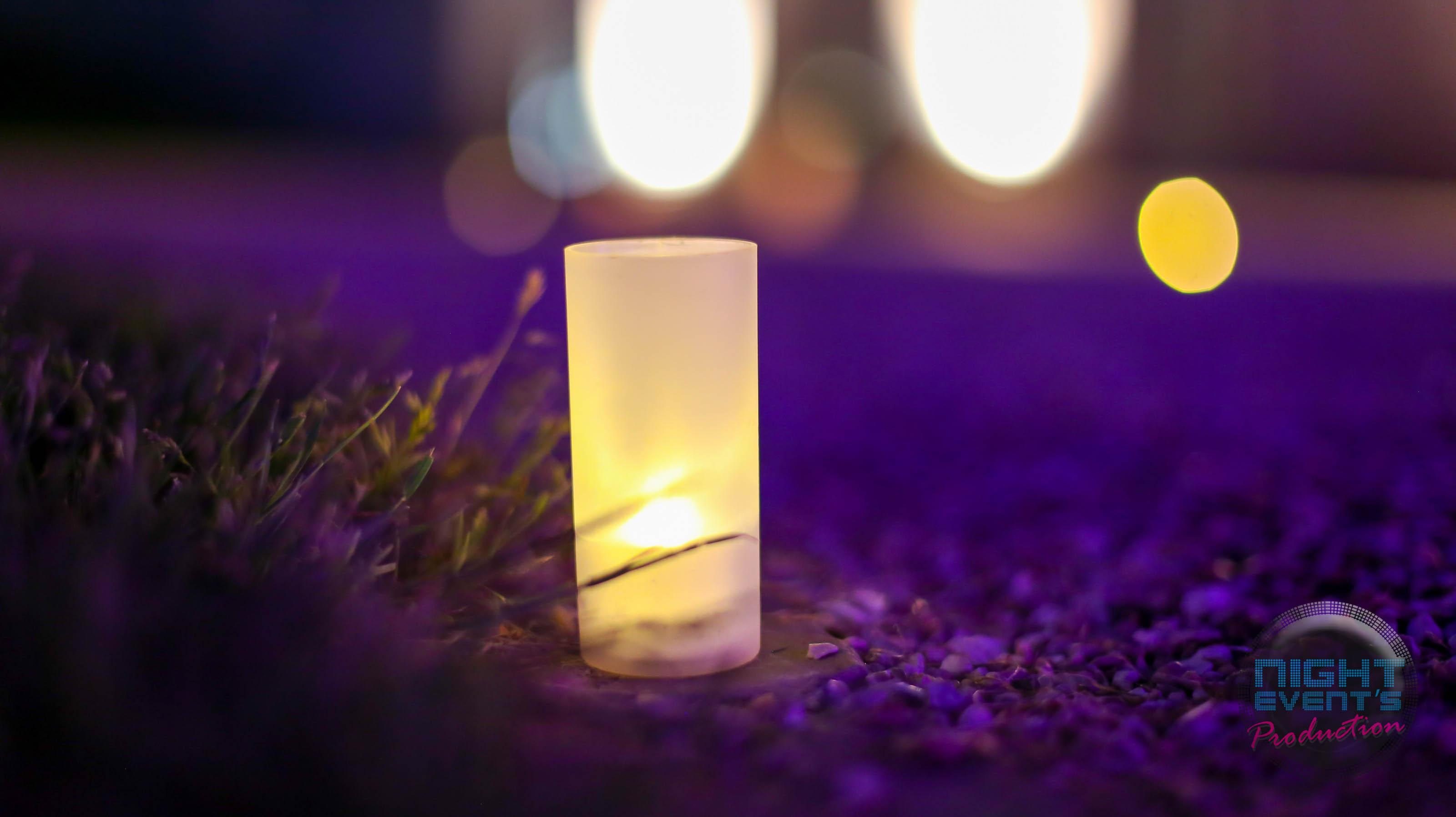 Bougie LED dans photophore