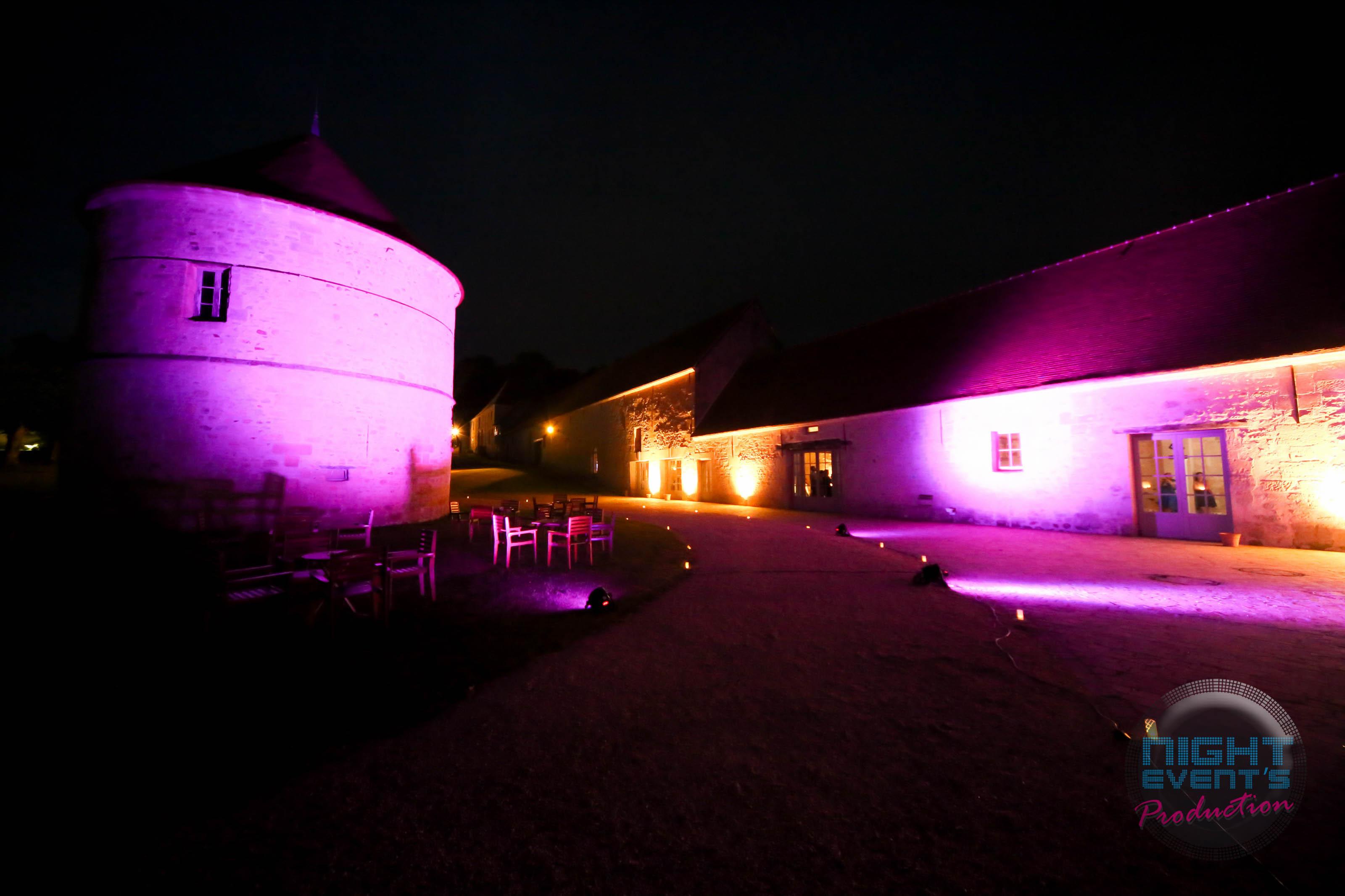 Éclairage extérieur - Château de Ser