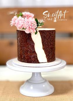 Tooled Leather Wedding Cake